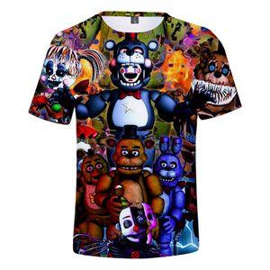 Los niños de dibujos animados camiseta de impresión en 3D cinco noches en Freddy Niños / Niñas divertido de manga corta camiseta de los niños Kpop FNAF animado Graphic Tees