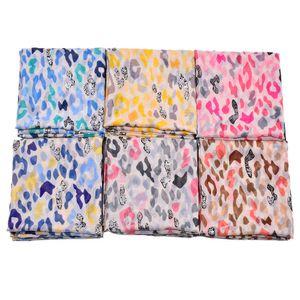Новые леопардовым принтом шарфы-шали 2019 Длинный модный леопардовый шарф с серебряной фольгой хиджаб глушитель пляжный шарф 6 цвет горячей продажи бесплатная доставка