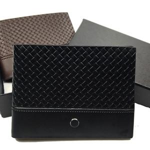 Yeni lüks iş erkek deri kısa klip cüzdan tasarımcı cüzdan kredi kartı tutucu cep fotoğraf hediye ücretsiz kargo prim kutusu