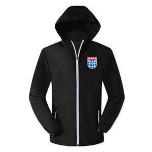 PEC Zwolle jaqueta homens de futebol com capuz Windbreaker, Casacos de PEC Zwolle jaqueta corta-vento de futebol moletom com capuz Sportswear Coats Homens