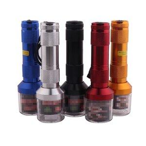 Multi Couleurs Broyeurs Alliage D'aluminium Bleu Noir Or Couleur Grinder Double Usage Ensemble de Fumeur Accessoire Lampes De Poche Creative 8dh L1