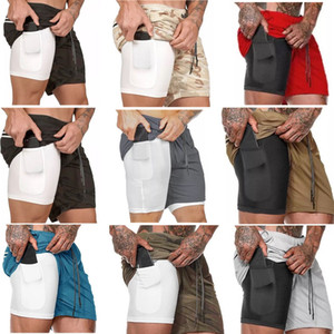 New Sporting Beaching Shorts Uomo Sport Gym Compression Telefono Pocket Abbigliamento sotto layer Base Pantaloni corti Athletic Solid Tights Tights Pants Pants