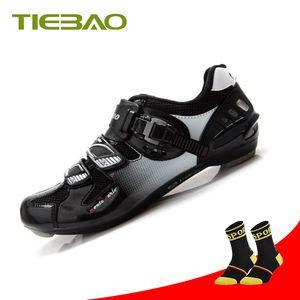 Tiebao Bicycle Racing Sports senakers sapatilha ciclismo Road Cycling Shoes Breathable Athletic MTB Road Bike Auto-lock Shoes
