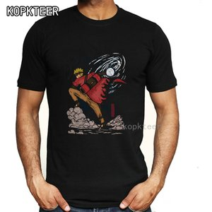 Uzumaki naruto Print T Shirt мужчины японское аниме Летний топ футболка мультфильм графический тройник короткие рукава мода уличная одежда мужской
