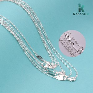 KASANIER 10pcs fashion women jewelry 16-24 inch chain necklace 925 silver necklace + 925 lobster clasps tag women jewelry