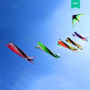 الشحن مجانا عالية الجودة الكبيرة كم الريح طائرة ورقية في الهواء الطلق لعب الطائر النايلون Ripstop الطائرات الورقية للبالغين كوي السمك الداكرون Aquiloni