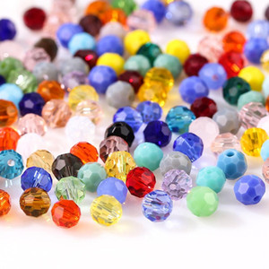 8mm Czech Colorful Glass Beads for Needlework Women Diy Accessories Perles Ball shape loose Spacer beads