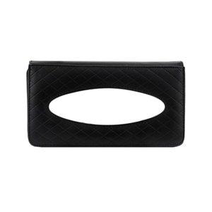 1pc Car Sunroof Tissue Box Viseira Hanging toalha de papel Carro Bandeja saco de couro