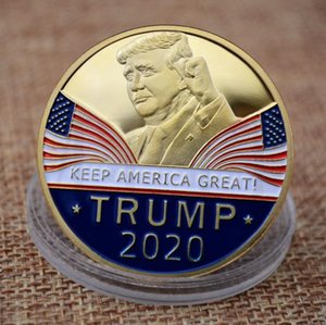 Commemorative Coin America President Trump 2020 Collection Speech Crafts Art Storage Souvenir Alloy Round Gifts 200PCS