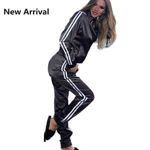 Zweiteiler Anzug für Frauen-elegante Top und Pants Set Womens Casual Sweat Anzüge Fitness Sommer-Outfits Drop Shipping