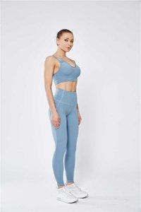 Ratos MallWomen cintura alta Yoga Roupa Yoga Pants Pant Side bolsos celular Esportes Shorts Leggings linho Yoga Pant Pants