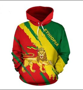 Мужские дизайнерские толстовки для женщин Мужчин Пары Толстовка Lovers 3D Эфиопия Полного Свитер с капюшоном Пальто с капюшоном Пуловеры Tees Одежда RR041