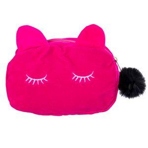 Black Box Box Pen Cat School Multifunction Counding Case Velor Cound Counce Mag Bag Bage Мультфильм Путешествия Косметические Корпус Канцтовары Макияж TQSNM