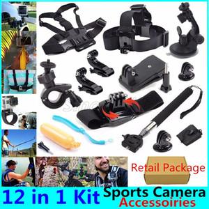 12 in 1 macchina fotografica di azione di accessori Kit per GoPro Eroe Session / 5 1234 SJ4000 Sport DV More Accessori per fotocamere