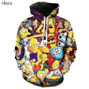 2020 Новый стиль аниме Симпсоны Толстовка Мужчины Женщины 3D печати мультфильм Simpson капюшоном Пуловеры Вскользь Пары Coat