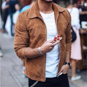 Designer Mens Jackets Lapel Neck Long Sleeve Cardigan Mens Coats Casual Solid Color Mens Clothes Spring Autumn