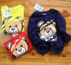 Детская одежда мода случайной детской с капюшоном мальчик свитер детского бренд милого свитер