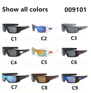 9101 9 Colors Plastic Sports Sun Glasses Men And Women Cycling Sunglasses No Printing Words Free Shipment