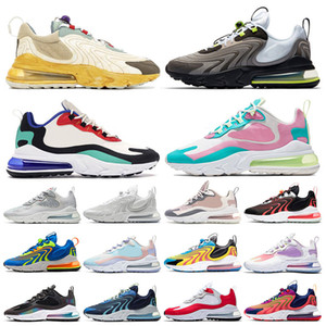 Nike Air Max 270 React Eng airmax 270 Travis Scott STOCK X New 2020 Cushion Zapatos para correr Watermelon Hombres Bauhaus Blue Tennis Sport Mujeres Zapatillas de deporte de lujo