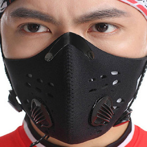 Breathable Activated Carbon Cycling Mask Mountain Bike Road Bike Bicycle Half Face Mask Dustproof Cycling Running Sports