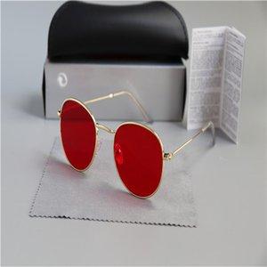 2020 mode neue klassische runde sonnenbrille brillen metall gold rahmen sonne brille männer frauen spiegel 3447 sonnenbrille