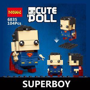 STOK DECOOL Sevimli Bebek 6835-6846 6601-6604 18002 süper kahramanlar hayret Avengers örümcek rakamlar Yapı Taşı Mini tuğlaları Oyuncak İÇİNDE
