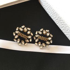 New Pferd Auge Diamant klassischen Brief Retro-Designer Ohrringe Luxus-Designer-Schmuck Frauen Ohrringe