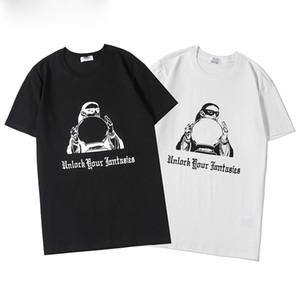 Summer fashion crime designer T-shirt crane printing high-quality hip-hop men and women short-sleeved T-shirt S-XXL size