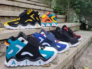 2019 zapatos de baloncesto del Mens Aire Barrage tamaño medio QS Negro HyperGrape mujeres entrenadores deportivos zapatillas de deporte 36-47 CD9329-001