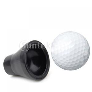 المطاط الأسود كرة الغولف البيك اب كأس شفط للمضرب قبضة