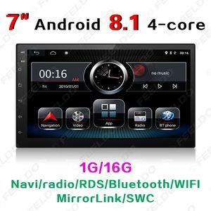 """7 """"Android 8.1 Quad Core car video double 2 Din Car Radio Stereo Bluetooth 1080P Mirrorlink Navigazione GPS + Telecamera inversa con Wifi # 3153"""