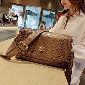Factory wholesale women bag street trend serpentine Messenger bag new contrast leather fashion clutch bags retro leather shoulder bag