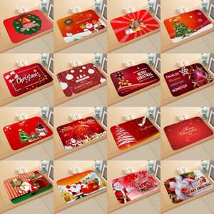 Noël Salle de bain antidérapant Tapis Joyeux Noël Père Noël Moose Salle de bains Eau Absorbent antidérapante Pad Noël Nouvel An Red Elk Tapis de sol
