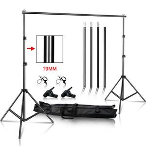 Sistema de Apoyo Foto Video Studio, fondo del soporte muselina de la fotografía Fondos marco de foto lienzo con bolsa de transporte