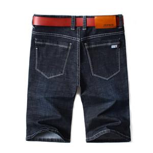 Brand Mens 2019 Summer Stretch Top Quality Denim Jeans Male Short Men Blue Denim Jean Shorts Pantman Short Large Size 42 44 46