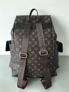 2020New Mike mochila saco de viagem pu material de grade preta backpack002 alta qualidade