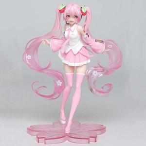 Vente chaude 18cm Anime Rose Sakura Miku Hatsune PVC Figurines Jouets pour les enfants Enfants Cadeaux de Noël Doll