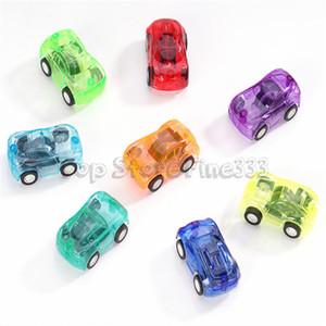 Mini plastica trasparente Pull automobile della parte posteriore dell'uovo di Pasqua Filler plastica svegli giocattoli dell'automobile per i regali di promozione di Mini Auto tirare indietro camion del bus