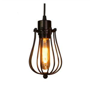 gaiola lustre antigo Edison lâmpada sotão Restaurante Quarto LED Pendant indústria de iluminação Lâmpadas de ferro do vintage para casa