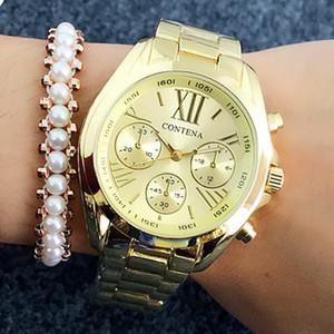 2019 mulheres relógios de Genebra Hot famoso estilo marca de moda Ouro Relógios Para Ladies Luxury quartzo para mulheres Relógios de pulso relógio das mulheres
