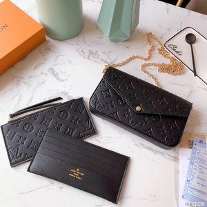 Fashion lady chain bag credit card printing bag 3 piece set dongshi 07