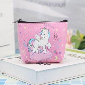 Cute Girl Kids Animal Unicorn Coin Purses Holder Kawaii Women Mini Change Wallets Coin Money Bag Children Zipper Pouch