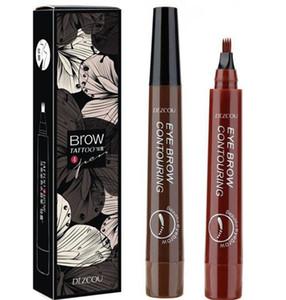 Kaş Kalem Su geçirmez Çatal Tip Dövme Uzun Son Kaş Kalemi 4 Kafa Güzel Kroki Sıvı Kaş Artırıcı Eye Brow Pencil KKA7808