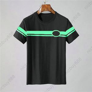 Tasarımcı lüks giyim yaz avrupa italya etiketi tişört patchwork Tee Casual tişörtleri t gömlek Top tshirt yeşil renk çizgili baskı kırmızı mens