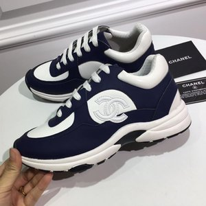 chanel Мужская обувь женщина Подошва с оригинальной коробкой обувью Мода Chaussures налить Hommes Footwears Luxury шнуровку с Origin Box В продаже