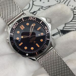 2020 Diver 300M 007 Ausgabe Master Black Sea Planet 600m Co-Axial Automatische mechanische Bewegung Mann-Uhr-Stahlband Sport Armbanduhr