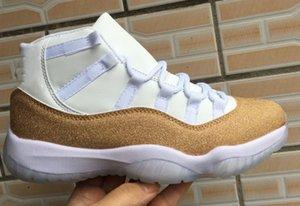 Box 2020 ile 11 Mor Işık Yıldız Erkek ve Bayan 11S beyaz altın Basketbol Ayakkabıları Marka Tasarımcı Sneakers Erkek Spor Ayakkabılar