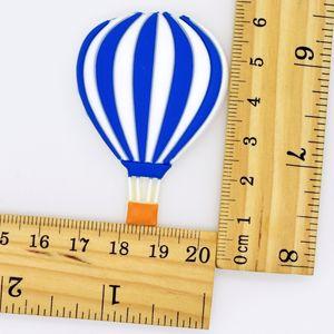 SICAK Hava Balonu Şekli Flatback PVC süslemeler Fit Anahtarlık / dolabı Magnet / Takunyalar / Telefon Kılıfı DIY Craft El Yapımı Aksesuarlar