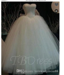 Ball Gown Wedding Dresses Sweetheart Lace Pearls Ball Gown Wedding Dress