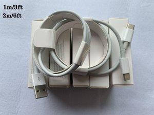 100pcs 6 generazioni originale OEM 1m qualità 3ft cavo della carica di sincronizzazione di dati di 2M 6ft USB Con l'imballaggio al dettaglio Micro USB